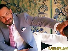 Hard anal with hairy executive hunk after he gives a cash anal pickupps BJ