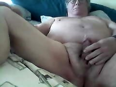 Handsome chubby Grandpa cums on cam