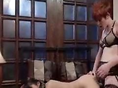 Hot Redhead bas me plays with her Asian Pet