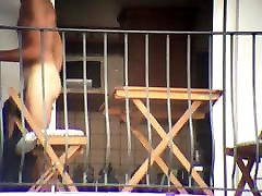 exhib neighbor lets see his little dick on his balcony