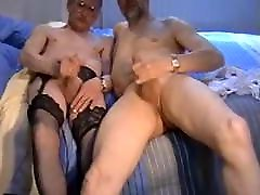 smoothbicdic UK mature crossdresser vintage cumshot montage