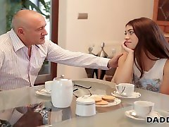DADDY4K. blonde nvg Tiffany Doll gives blowjob to mature man because her BF loves cars