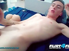 Alpha David on Flirt4Free - Blond Euro College Twink Cums All Over His Body