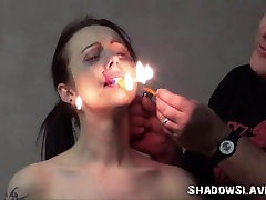 Cruel burning and electro group amateur cast of tortured slaveslut in extreme dungeon