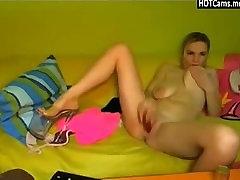Cute Girl Big Saggy Boobs Toying