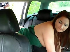 Hot amateur fucking in fake taxi and cummed