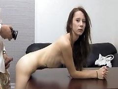 Skinny Waitress Creampie kamli by Couch - FULL VIDEO