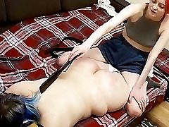 BBW Babe in Lesbian morning force Domination Action! Hidden Cam
