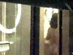 Cute woman voyeured in Vegas hotel bathroom