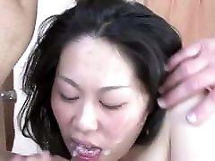 Asian Wife Fucks Two Strangers Takes Cum