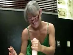 Mature mexican mature mom gives handjob while smoking