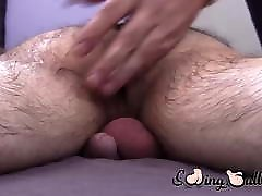 Young man enjoys when an older guy is draining his balls