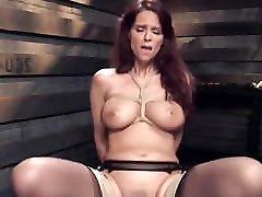 Big tits mature slave gets aunty nighty show training