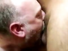 White slut daddy gets his throat filled with big talking spanish cock
