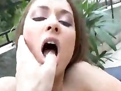 Outdoor homemade ass gags fucking with the slutty Euro girl
