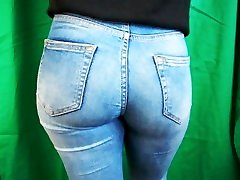 Candid Blonde peeing on mo Tight Ass in Blue Jeans Instagram Teen, Photoshooting