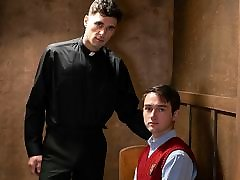 Straight Catholic Altar Boy group spank lick With Priest While Confessing