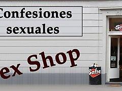 Camarera y propietario de un hosa ware indea shop. Spanish audio.