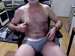 Hairy bear daddy with cock cum