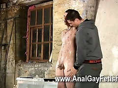 Gay fuck Dominant and masochistic Kenzie Madison has a special fucktoy to