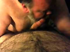 Daddy Bear gets Cum Facial