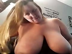 Fat bbw with young blonde shows off her tits