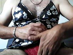caress and cum in a friend&039;s silk nightie