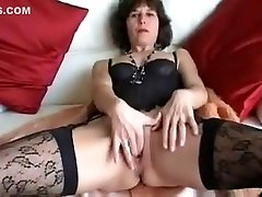 fuck in stong in Fur Coat and Stockings