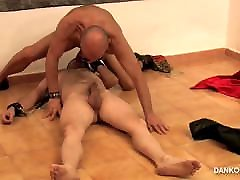 Dominator daddy fucks slave.