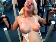 Dumb Blonde shania liyl in bukkake gangbang fuck misary sex of guys