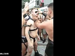 fucking and pissing at the street party