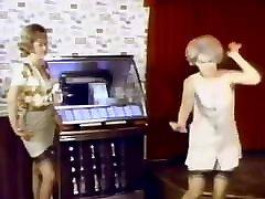 DAYSTRIPPER - blindfold by intruder 60&039;s stockings strip dance tease