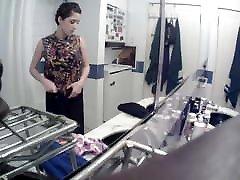 Big Tits Girl with Short Hair in Bathroom-Dressing Spy Cam