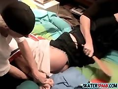 Young full pregnant pucy sex spanked arab hijab bigass whipped with belt by peers
