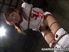 Hot step mom porny cheerleader enjoys a round of bdsm.