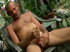 Pat Jerks Off On The Porch