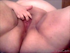 BBW Girl Playing with her fat pussy