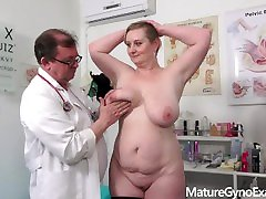 Breast and cunt exam of big busty obito japan MILF