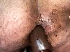 hairy boy sits on daddy&039;s cock