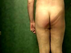 Submissive male spanking himself
