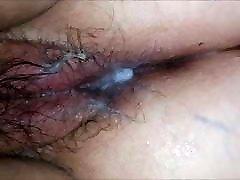Cream pie in hairy pussy mature