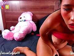 big tits asian toy play
