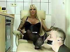 Blond Milf Nylon Feet Worship