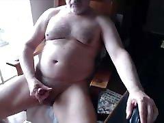 Daddy bear shoot very big cum
