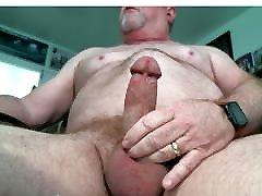 Fat daddy bear Cum