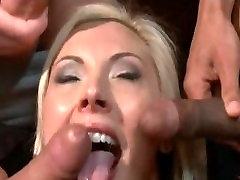 anal Bound babe gangbanged