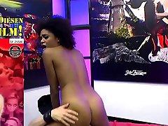 Black luna corazon receiving white cocks and cums