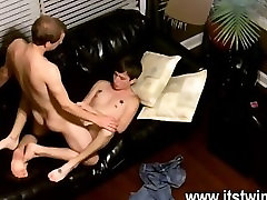 Twink anetta down We watch from above as the folks share their peckers and