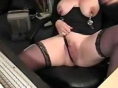 Big Boobs Mature Blonde Masturbate & Squirt