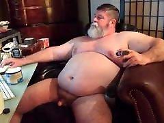 fat grandpa masturbates